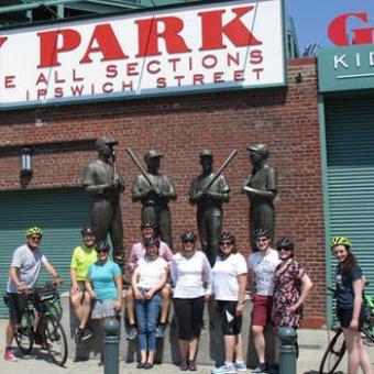 Fenway Tour Group during Bike Tour in Boston