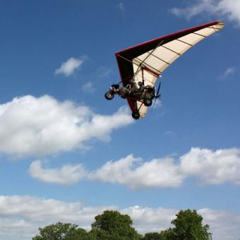 Tandem Hang Gliding Flight in Texas