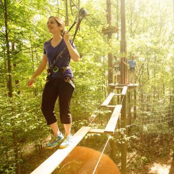 Treetop Adventure near Philadelphia