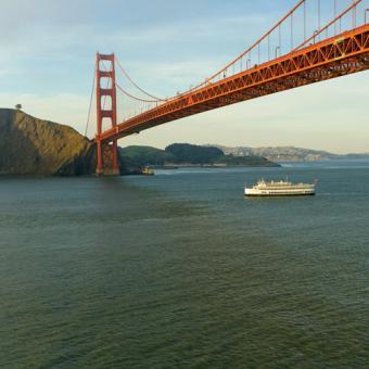 Cruise under the Golden Gate Bridge and Bay Bridge