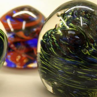 Handmade Piece Made During Glass Blowing Lesson