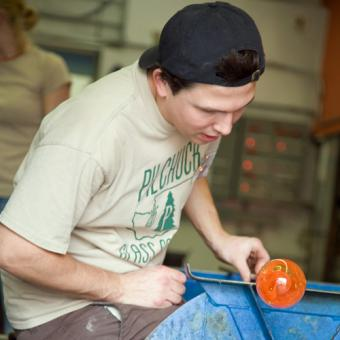 Intro to Glass Blowing Lesson in Boston