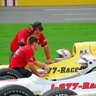 Indy Car Racing close to Cincinnati