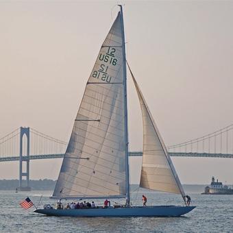 Sailing during Air & Sea Tour near Boston