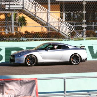 Racing a Nissan GTR in Miami
