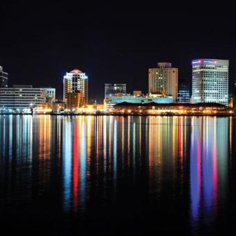 Norfolk City Skyline from Dinner Cruise