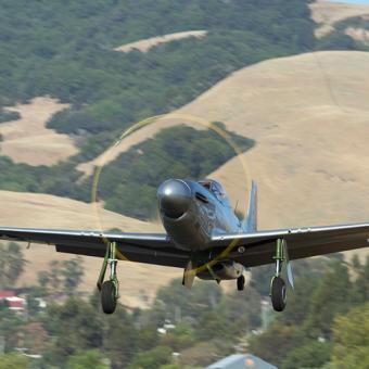 North America P51 Mustang Flight