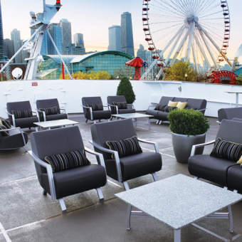 Lounge Deck on Sunday Champagne Brunch Cruise