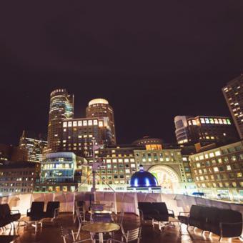Outside Deck on Dinner Cruise in Boston