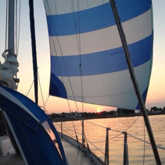 Sunset Sailing near Minneapolis