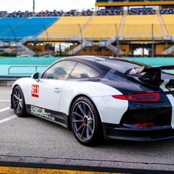 Race a Porsche at Miami Speedway or Palm Beach Raceway