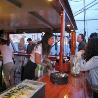 Bar on NYC Sunset Cruise