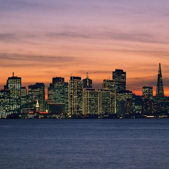 View of San Francisco Skyline on Dinner Cruise