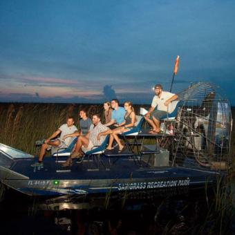 Airboat Adventure at Night near Fort Lauderdale