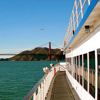 View of the Golden Gate Bridge from Champagne Brunch Cruise