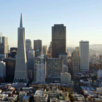 Downtown San Francisco at dusk