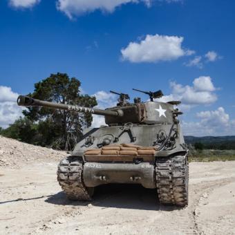 Easy Eva Sherman Tank near Austin