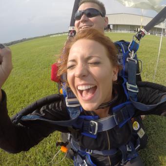 Safe Landing after Tandem Jump near Houston