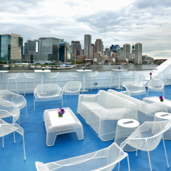 Lounge Deck on Lunch Cruise in Boston