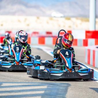 Racing a Go-Kart in Las Vegas