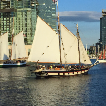 Tall Ship on Mystic Whale Sunset Cruise