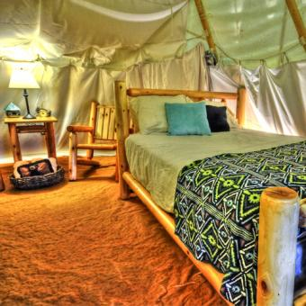 Luxury Camping in a Teepee
