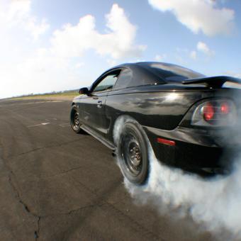 Burning Rubber While Stunt Driving