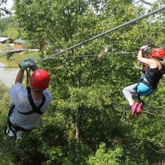 Tandem Ziplines & Ultimate Zipline Canopy Tour in Atlanta at Cloud 9 Living