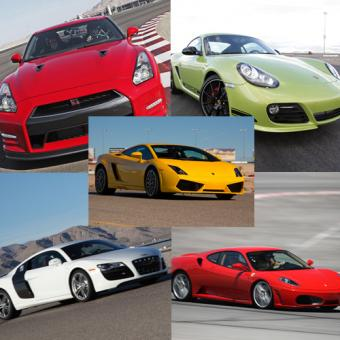 Race 5 Exotic Cars at Las Vegas Speedway!