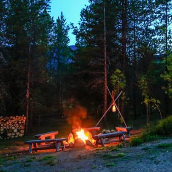 Camping near Glacier