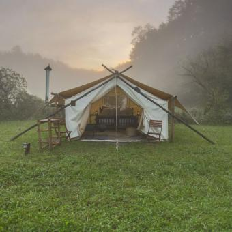 Safari Tent Camping near Great Smoky Mountains National Park