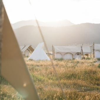 Glampground in Yellowstone West