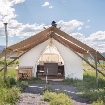 Glamping near Yellowstone