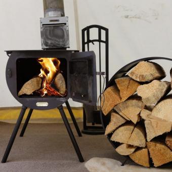 Wood Burning Stove inside Safari Tent