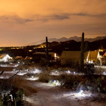 Tucson Glamping at Night