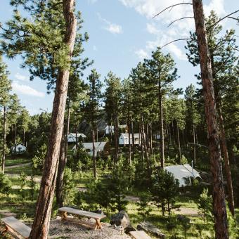 Glampground near Mount Rushmore
