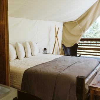 Safari Tent Camping Interior