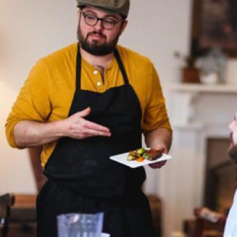 Waiter on Food Tour of Richmond