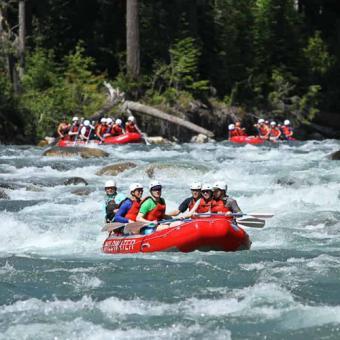 Whitewater Rafting the Sauk River near Seattle