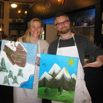 Wine and Painting Class in Denver
