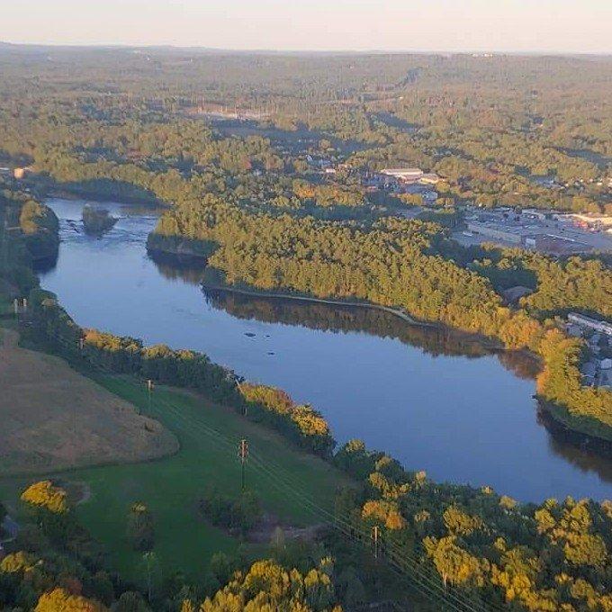 Views During Private Hot Air Balloon Ride