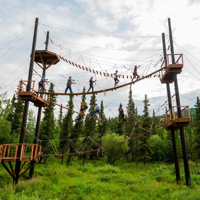 Alaskan Aerial Zipline Course