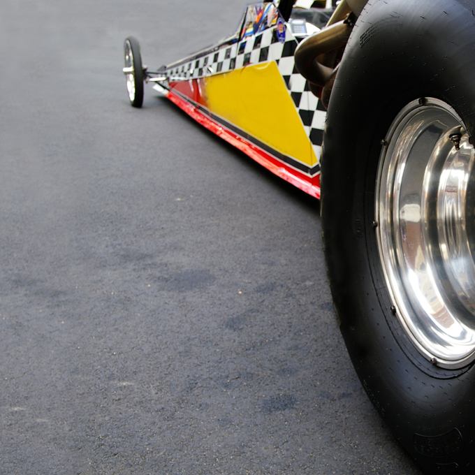 Side-by-Side Dragster Race at Auto Club Dragway