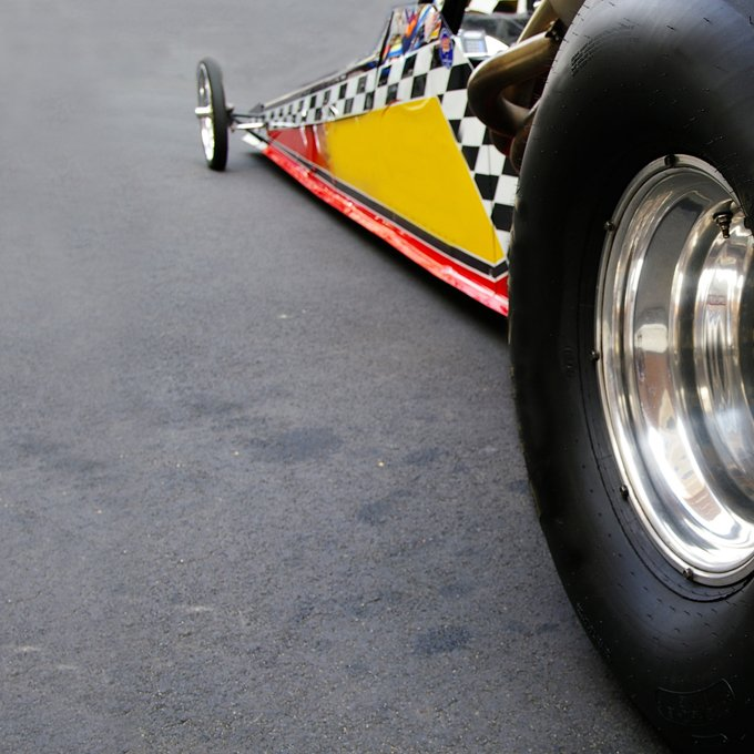 Side-by-Side Dragster Race at Gainesville Raceway