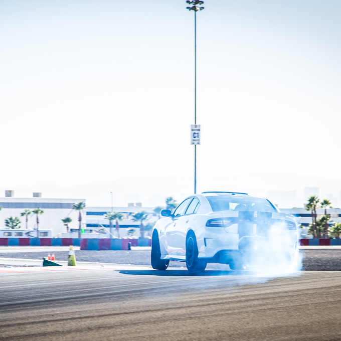 Road Course Drifting in a Dodge Charger SRT Hellcat