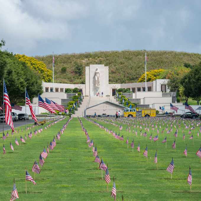 See the National Memorial Cemetery of the Pacific