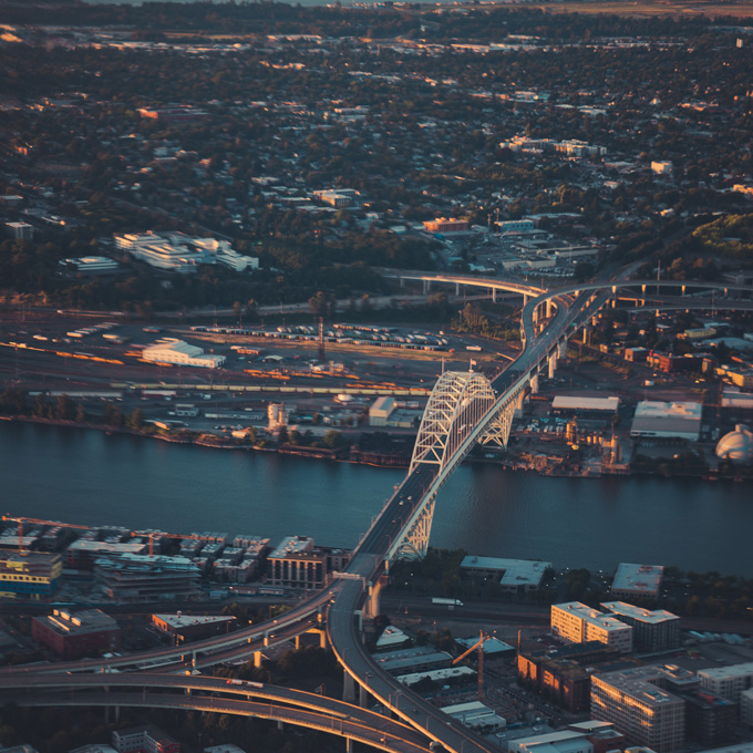 Cessna Flight Over Portland