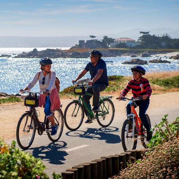 Biking next to the Coast