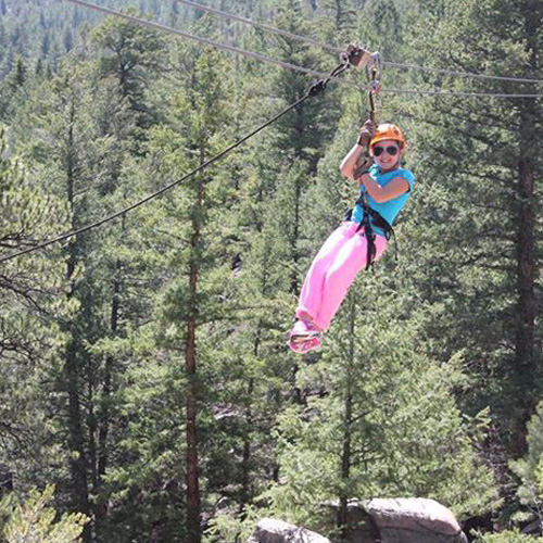 Ziplining in Idaho Springs