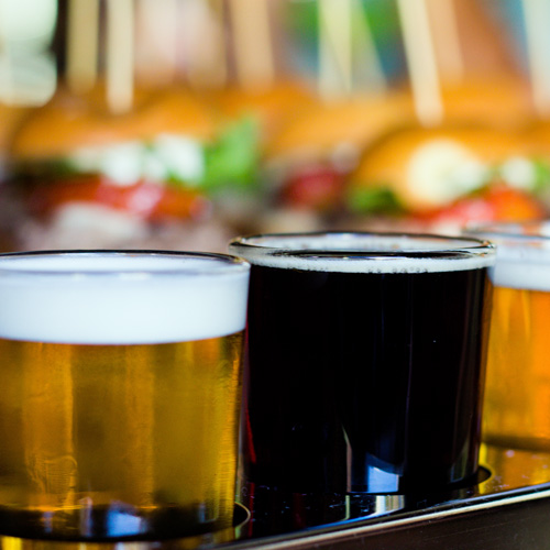Beer flight on a San Diego Food Tour